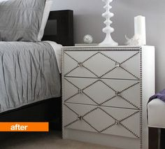 Before & After: IKEA Rast to Nailhead Bedside Table The Abundant Abode | Apartment Therapy