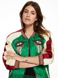 Reversible Embroidered Bomber Jacket Scotch n Soda