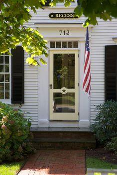 Wooden Screen Storm Door 030 Custom Screen Doors, Old Screen Doors, Wooden Screen, Adirondack Chairs, Shutters, Interior And Exterior, Beach House, Garage Doors, Cottage
