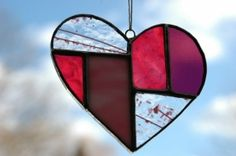 On Etsy: Stained Glass Heart perfect for Valentine's day, by GlassPlay