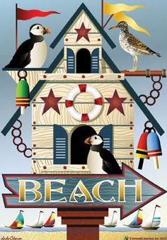 Beach Birdhouse-Beach Flags-Flag Addict