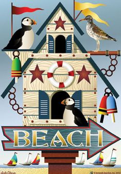 Beach Birdhouse - Beach Flags - Flag Addict