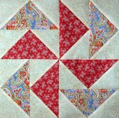 Make Mp-Waste Flying Geese - Janet Wickell-Flying geese are used in (at least) hundreds of patchwork quilt blocks, and are perfect for patchwork borders and other types of accents in quilts.