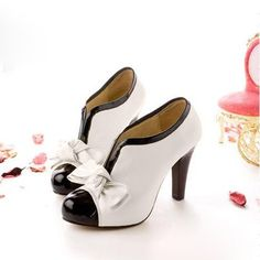 SHARE & Get it FREE | Sexy Lady Beige Bow Pump Platform Women High Heel…