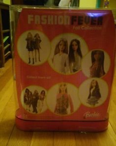 RARE VARIANT~FASHION FEVER Dark hair Barbie Doll~Mix/Match Outfits~Chic Storage~