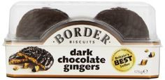 Border Biscuits, Dark Chocolate Gingers, 5.3-Ounce (Pack of 6)
