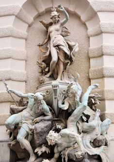 Hofburg Palace | Power by Sea Fountain| Rudolf Weyr | Michealer Wing, Hofburg Palace | Innere Stadt, Vienna, Austria.