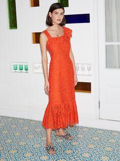 db24250c 35 Best Orange lace images   Dress lace, Cute dresses, Dress skirt