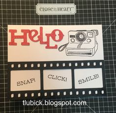 Welcome to the April Stamp of the Month blog hop featuring artwork created from the S1604 - Life in Pictures stamp set by Close to My Hear...