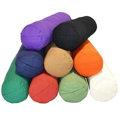 Our 100% cotton yoga bolsters provide supportive cushioning to several yoga postures. Our round bolster is stuffed tight with a Recron fibre, and although firm, is soft enough to b