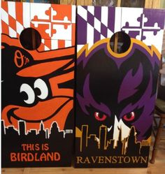 Custom Made Corn hole Boards - These Cornhole boards are handcrafted, handpainted and custom made for each of our customers and meet the Cornhole Association specifications. Free set of cornhole bags are also provided for $179.99. They make great gifts for anyone for any occasion! We love custom orders and will make your team, theme or wedding. Contact us at www.fscustomcraftcreations.com