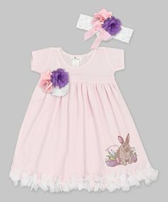 Another great find on #zulily! Pink Floral Bunny Petal Dress & Headband - Infant #zulilyfinds