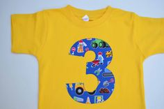 Construction worker fun birthday shirt, in stock!  Boys 3rd Birthday Shirt Construction Workers Tshirt by Aidille