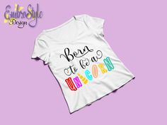 Born to be a Unicorn Svg Files for Cricut and Silhouette, Born to be a Unicorn T-shirt Svg, Unicorn Svg Silhouette, Instant Download T Shirt Transfers, Silhouette Designer Edition, Svg Files For Cricut, Cutting Files, Unicorn, Shirts, Etsy, Clothes, Outfits