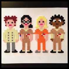 """OITNB Perler Bead Magnets 