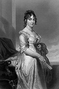 Dolley Madison: She was notable for her social gifts and helped define the role of First Lady. Her social gatherings made her husband James Madison more popular as a president. Dolley and James Madison owned my family as slaves. Presidents Wives, American Presidents, American History, James Madison, First Lady Of America, American First Ladies, Early American, American Women, War Of 1812