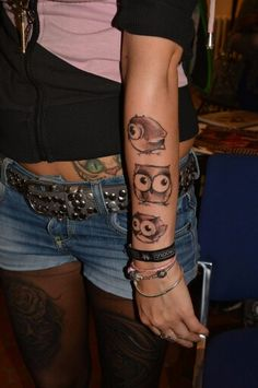 Funny owl tattoo by Adda Transilvaniatattoo  www.facebook.com/adda.transilvaniatattoo