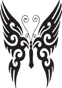 Butterfly Tattoo Clip Art   Cricut Explore   Pinterest