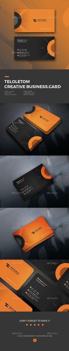Teloletom Creative Business Card Template PSD
