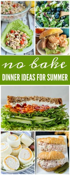 I have gathered together some No Bake Dinner Ideas for Summer that will keep you nice and cool and they taste delicious too!