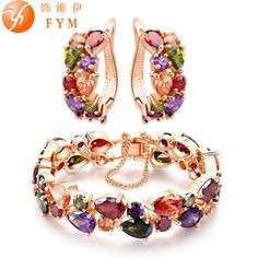 e064d38c92492 Cheap colorful jewelry sets, Buy Quality jewelry sets directly from China  cz jewelry set Suppliers  CARSINEL Trendy Shining Colorful Jewelry Sets CZ  ...