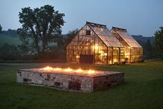 BC Greenhouse Builders Ltd. - Visit us to learn more about Cape Cod Double Glass Greenhouse . BC Greenhouse Builders Ltd. has been manufacturing the highest quality greenhouses since Outdoor Spaces, Outdoor Living, Outdoor Decor, Outdoor Fire, Outdoor Ideas, Cabana, Image Internet, Square Fire Pit, Patio Interior