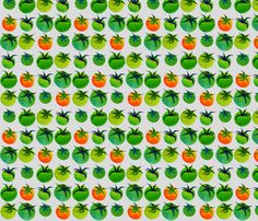 I want to make a farmer's market tote with this.  My Green Tomatoes fabric by spellstone on Spoonflower - custom fabric