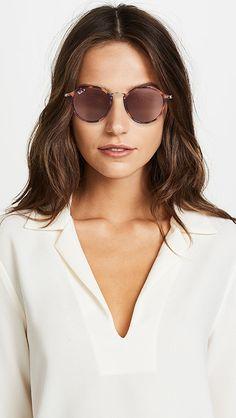Ray-Ban RB2447 Round Fleck Polarized Sunglasses | SHOPBOP Ray Ban Round Sunglasses, Polarized Sunglasses, Mirrored Sunglasses, Sunglasses Women, Men's Underwear, Dior, Karen Walker Sunglasses, Trending Sunglasses, Chanel
