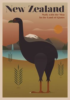 Nostalgic Travel Posters Showcase Extinct Animals You'll Never Get To See | Huffington Post