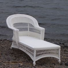 pretty delightful french provincial all weather white wicker chaise
