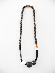Object & Totem Clay Bead Tassel Necklace