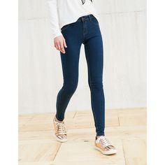 Jeans BSK básico super skinny - Jeans - Bershka España via Polyvore featuring jeans, bershka jeans, bershka, skinny fit jeans, super skinny jeans и skinny leg jeans
