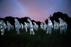 """Glowing """"Soldiers"""" Represent Nuclear Threat in Creepy Art Exhibit : TreeHugger"""