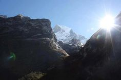 Route to Machhapuchre base  camp,Nepal