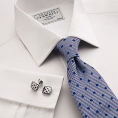 Every man needs a beautiful white shirt with French cuffs.