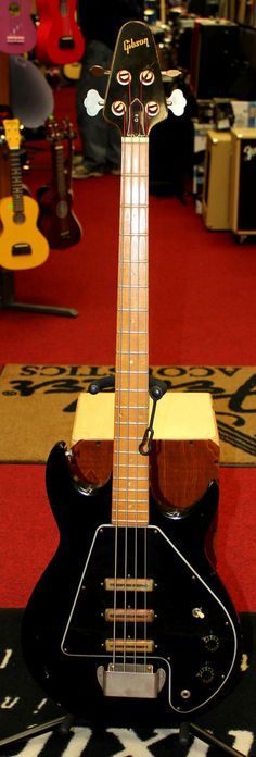 1976 Vintage Gibson G-3 Grabber Black Electric Bass Guitar w/OHSC for sale $995.00