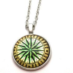 Nautical compass necklace Nautical compass necklace 18 inch chain 1 inch pendant Jewelry Necklaces