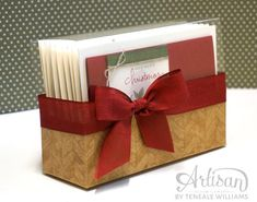 Great way to give a set of cards! Uses the Tag A Bag Gift Box, cut the acetate sleeve open then attach to wall of box.