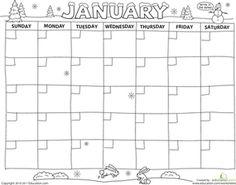 Preschool Time Nature Worksheets: Create a Calendar! Worksheet