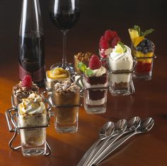 Seasons 52 Mini Indulgences, the innovative dessert offerings at Seasons 52, are individual servings of such classics as key lime pie, carrot cake, pecan pie and rocky road.