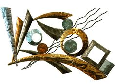 CONTEMPORARY 'DECONSTRUCTED ABSTRACT'  METAL WALL ART