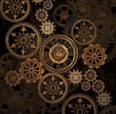 steam punk gears background