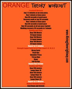 Workout Plan Orange Theory Workout - An orange theory inspired workout that can be done at the gym or at home. Fun and challenging. This workout is awesome and will torch calories. Rowing Workout, Treadmill Workouts, Boot Camp Workout, At Home Workouts, Fitness Workouts, Circuit Workouts, Body Workouts, Walking Workouts, Short Workouts