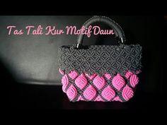Part 1. Membuat Tas tali kur motif daun dengan teknik berbeda - YouTube Macrame Bag, Macrame Knots, Macrame Tutorial, New Bag, Craft Work, Couture, Handicraft, Crochet Patterns, Shoulder Bag