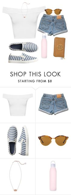 """""""Happy"""" by erinlarson0226 ❤ liked on Polyvore featuring WearAll, Gap, Ray-Ban, Kendra Scott and Tory Burch"""