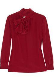 Saint LaurentSilk crepe de chine blouse