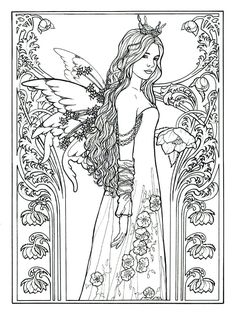fairies coloring pages princess fairy coloring pages fairy princess by carol more a coloring fairy princess coloring pictures fairies colouring pages for adults Rose Coloring Pages, Coloring Pages For Grown Ups, Mermaid Coloring Pages, Princess Coloring Pages, Printable Adult Coloring Pages, Coloring Books, Mandala Coloring, Coloring Sheets, Colouring Pages For Adults