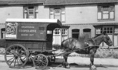 Birmingham Coop Society bread delivery cart. This is how the bread was delivered when I was a girl..coop number 147747.