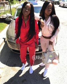 Bff Goals, Best Friend Goals, Squad Goals, Twin Outfits, Nike Outfits, Black Twins, Black Girls, Matching Outfits Best Friend, Besties
