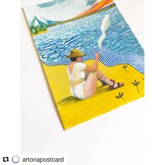 "Kittoe Contemporary on Instagram: ""#Repost @artonapostcard (@get_repost) ・・・ Lot 5 - 'She Did Not Care What The Neighbours Thought' by Jess Quinn (@birdyjq)⁠ (Japanese…"" Instagram Repost, Seas, Beach Mat, Outdoor Blanket, Japanese, Contemporary, Japanese Language"